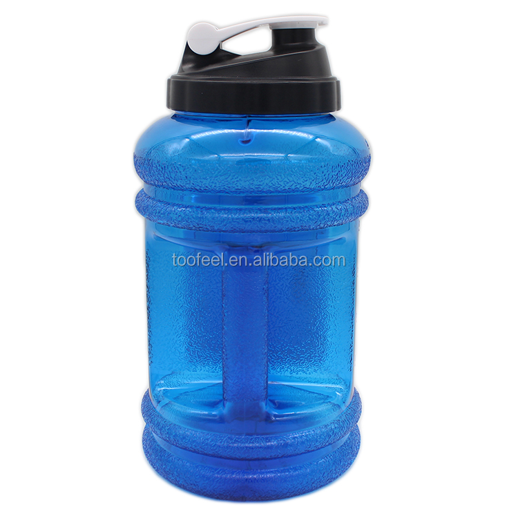 Fitness Sports Water Bottle with Lid, Large Wide Mouth Leakproof Durable BPA Free Shaker