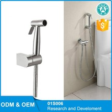 Toilet Stainless Steel Bidet Sprayer Shattaf Set, Hand Held Bidet Diaper Sprayer Muslim Shower Shattaf