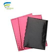 rose red stock padded plastic bubble mailer