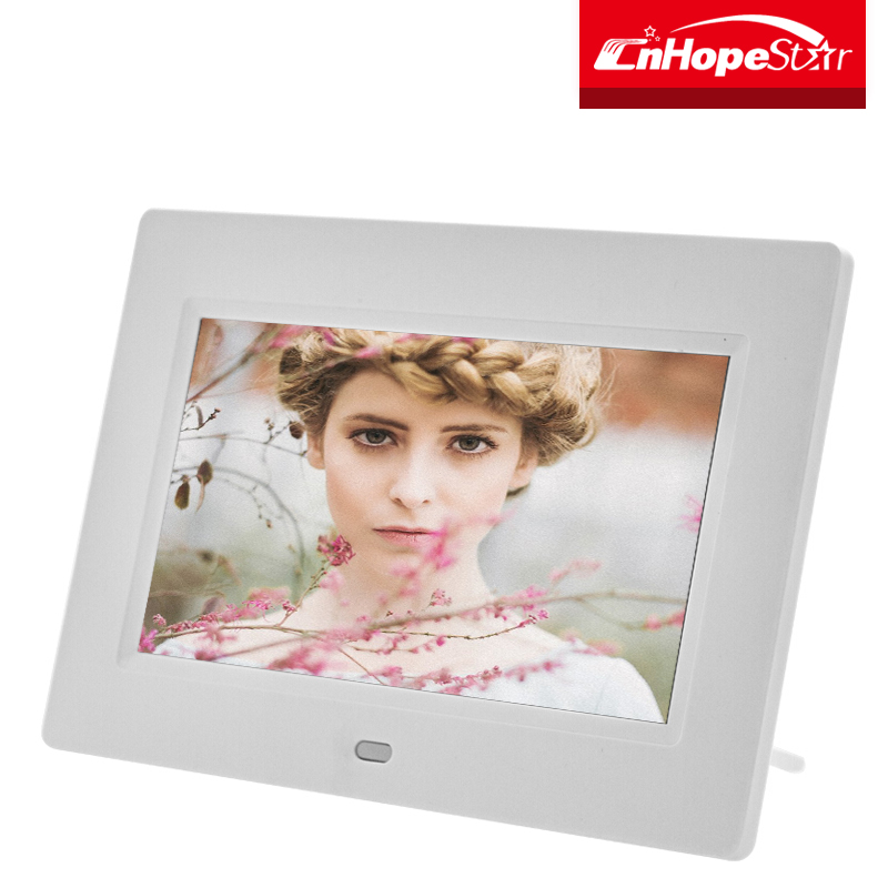 "Portable battery operated 7"" inch digital photo frame with remote control"