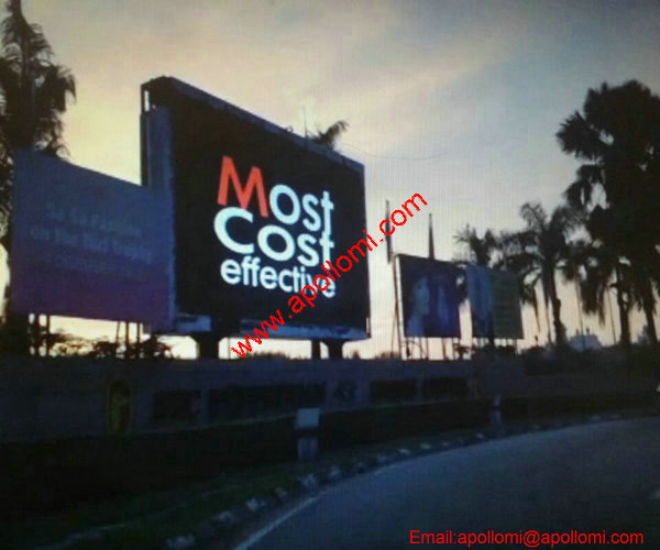 Indonesia 55.3SQM fixed P10 video led display