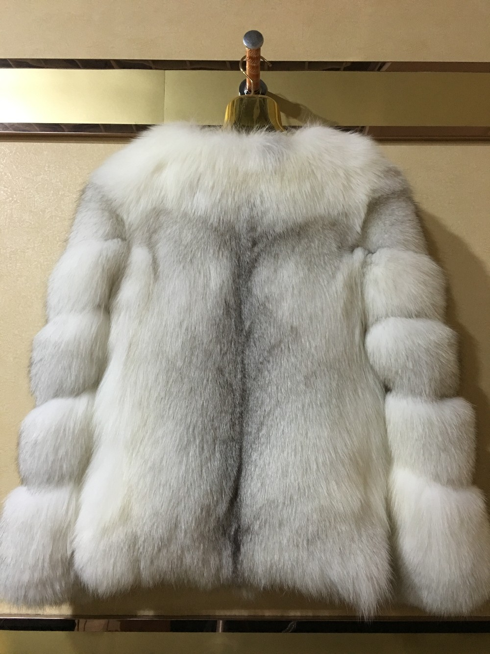 custom order accept winter factory women short cross fox fur coats
