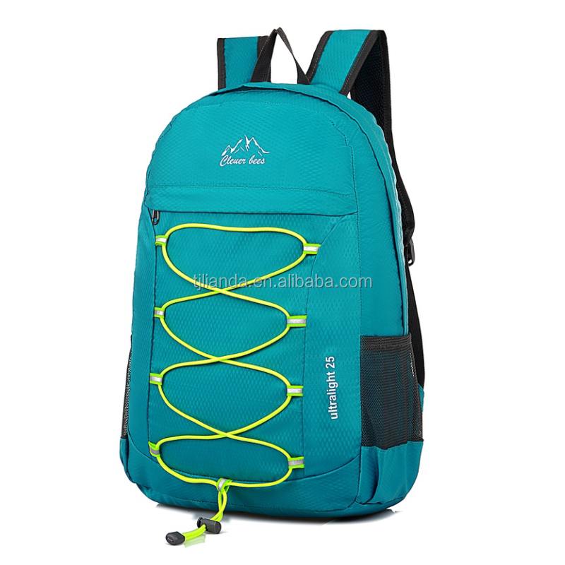 Waterproof Nylon Sports Folding Backpack with Reflector strip