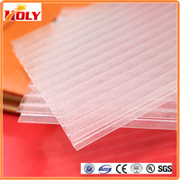 Durable 6mm clear twin wall polycarbonate recycled plastic roofing