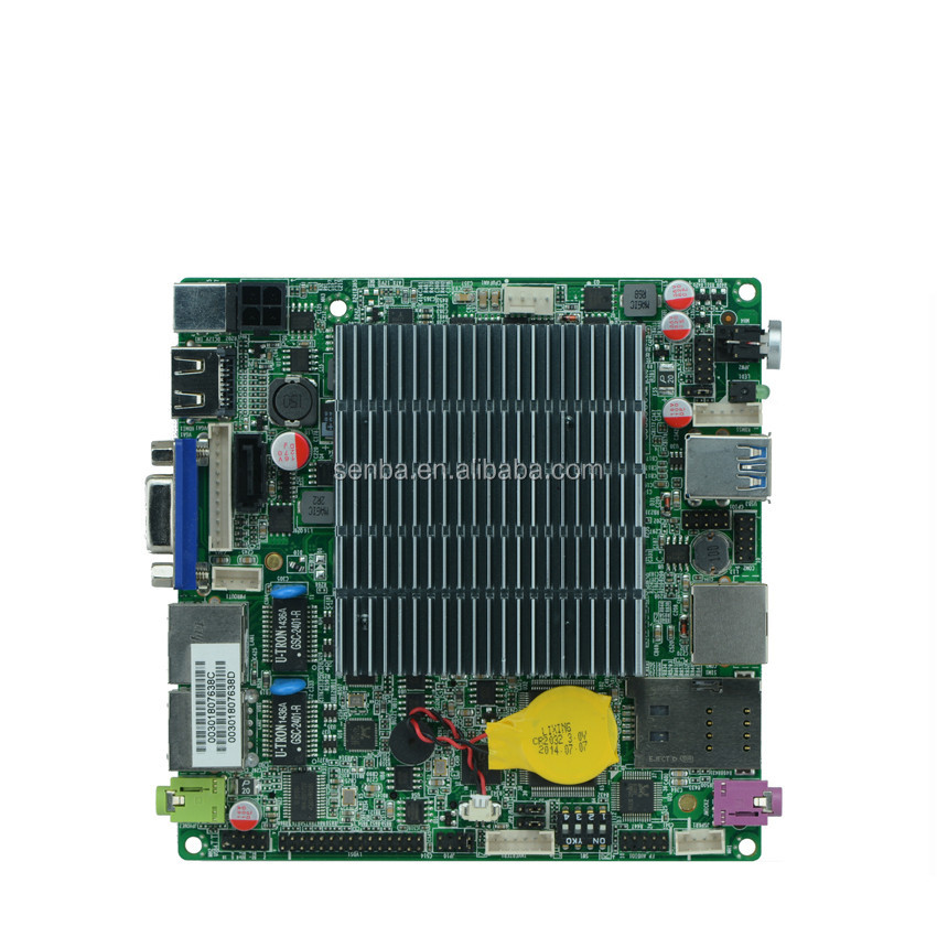 factoty price x86 dual lan lvds nano itx motherboard with watchdog timer and gpio