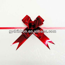 mattellic red color butterfly bows for gift packaging