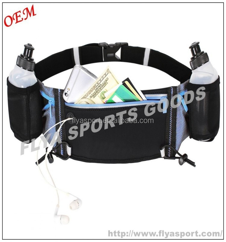 2017 New Polyester Material Best Hydration Running Belt with 2 BPA Free Water Bottle Waist Pack