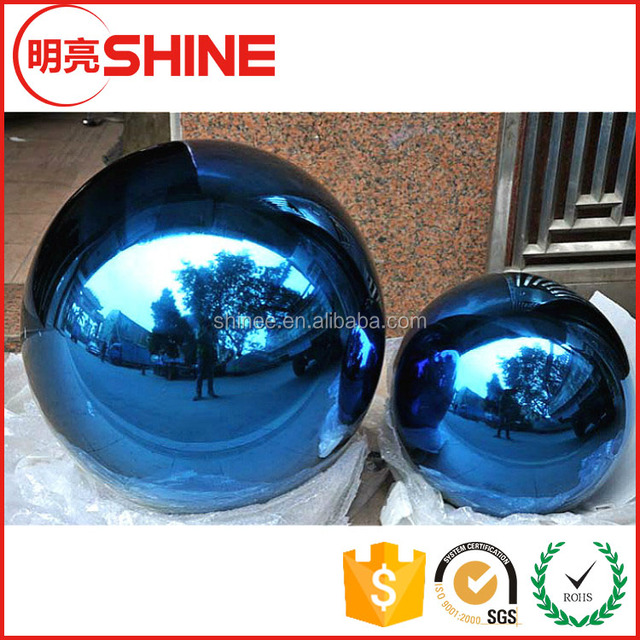 hollow steel sphere 201 plated colored christmas ornament threaded metal ball for decorative