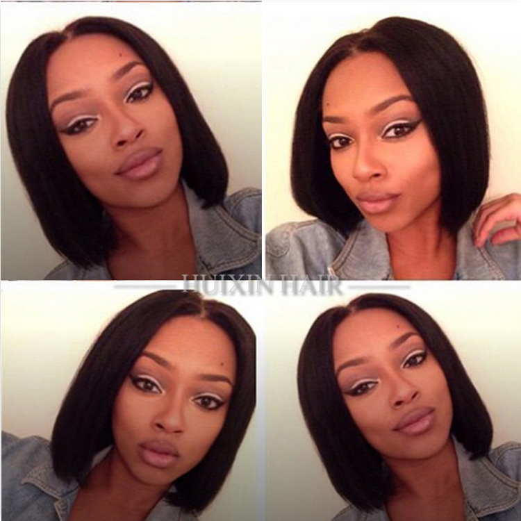 short bob wigs for black women Brazilian virgin unprocessed soft bob style human hair wig
