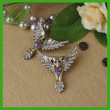 Beautiful Antique Rhinestone Eagle Brooches Unique brooches for Costume design KK2450