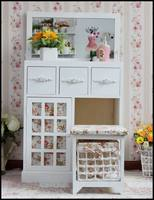 Fashion wood dressing table with cupboard