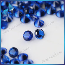 Semi-precious spinel stone diamond cut bulk price brilliant blue synthetic sapphire