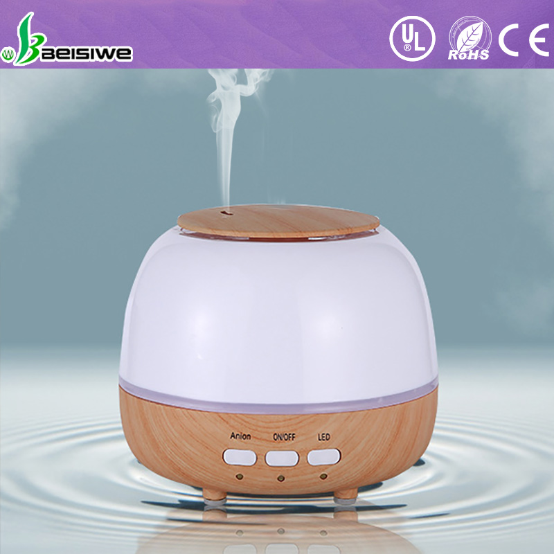 Large capacity <strong>light</strong> wood grain aroma diffuser essential oil diffuser with changang <strong>lights</strong>