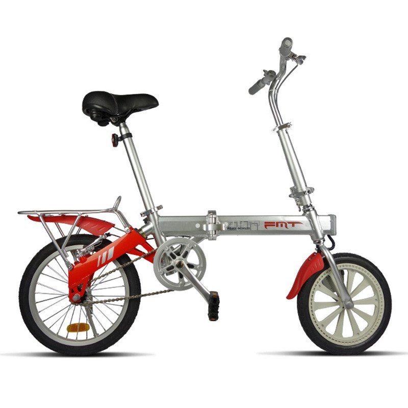 FMT manufacturer cheap and fashion lightweight new mini folding power electric bicycle with hidden lithium battery