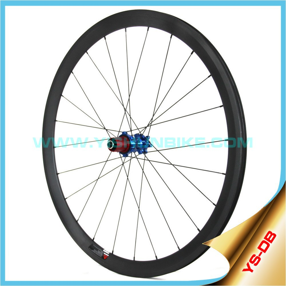 100% Hand-Made Bike Wheel 2015 YISHUN Bicycle 700C Road Cycle Cross 88mm Clincher Disc Brake Carbon Wheels DB880C