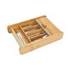 New design Bamboo Cutlery Tray with sliding cover
