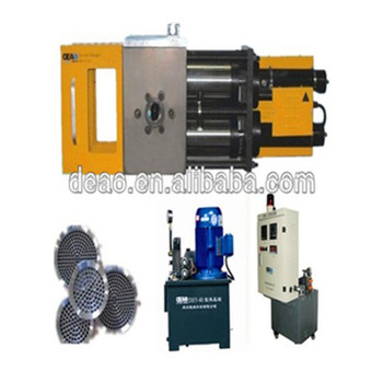 Double piston hydraulic screen changer for corrogated pipe extrusion machine