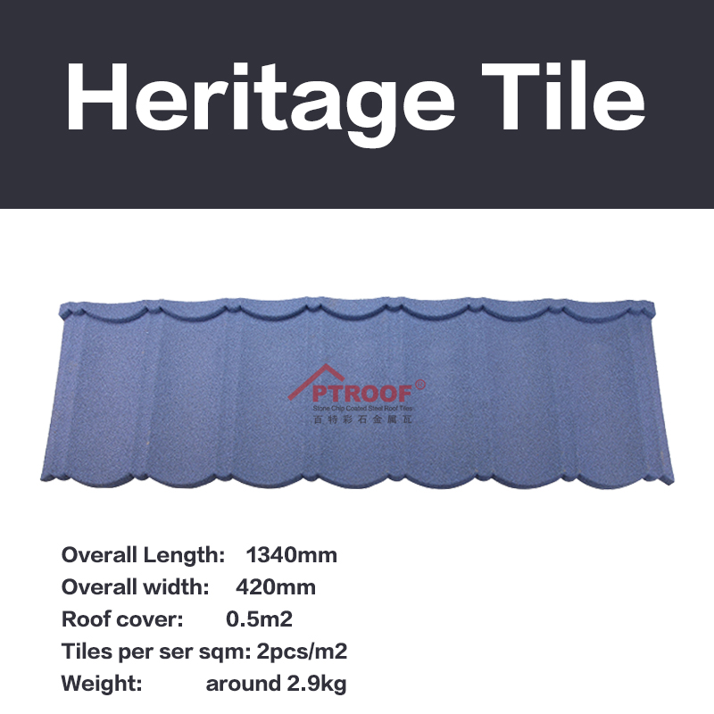 stone metal roofing tiles manufacturer in China Size: 1340mm*420mm