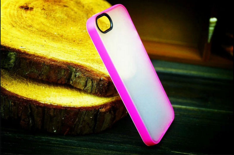 2014 TPU Transparent Shell Case For Apple iPhone 5s iPhone 5 5G Phone Candy Colored Cover Cases For iPhone5 5S 5G Wholesale