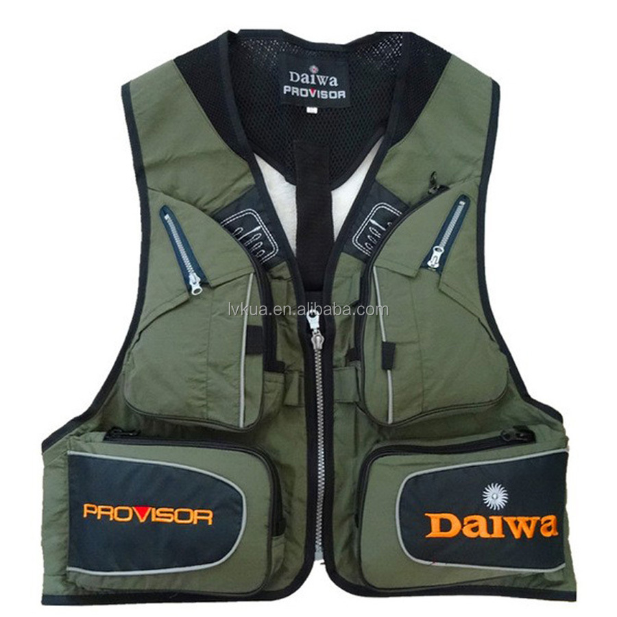 Man Women Outdoor Mulit-pocket Fluorescence Sport Vests Quick-drying Breathable for Fishing Hiking Men Waistcoat Jacket