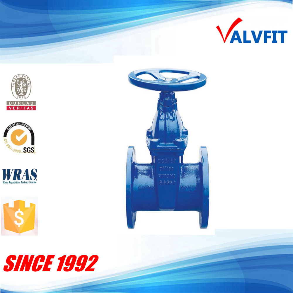Ductile iron pn16 BS5163 Sluice gate valve