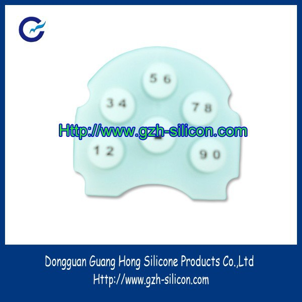 Custom silicone gel rubber matte finish key pads for doors security