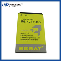 Hot Sale Cell Phone Battery BL-4C for Nokia 1661/1662/2220S/2228 Mobile phone battery