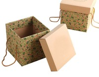 cardboard with window carton in cardboard box making