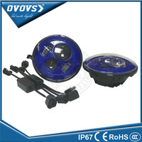 ovovs professional high bright light 7inch 40w blue auto led headlight 12v h4 for offroad suv atv