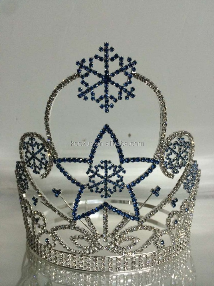 Frozen and snowflake tiara for Christmas pageant crown