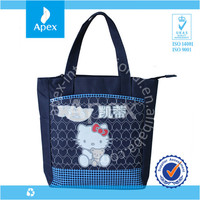 2014 Promotional high quality large zippered tote bag