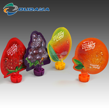 Food Packaging Flexible Plastic Customized Printing Fruit Shaped Juice pouch