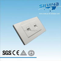 High-quality Illuminated Saudi Arabia whaite 2 gang TV Electrical Switch Socket wall switch face plate