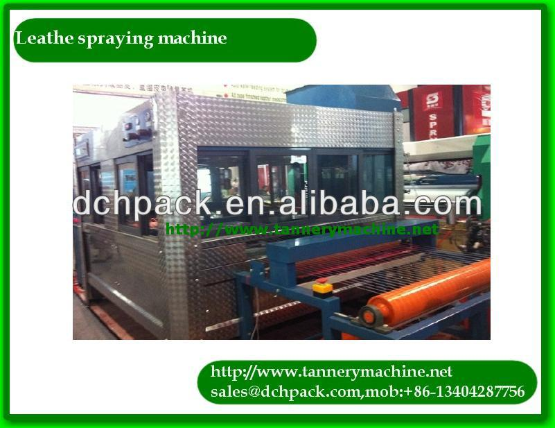 Scatter coating machine for leather spraying
