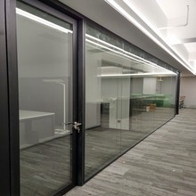 office cubicles design curtain glass wall partition for sale