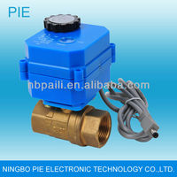 Wireless electric motor operated valve for water leak detection system