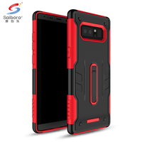 Wholesale tpu pc kickstand smart phone case for samsung galaxy note 8 cover