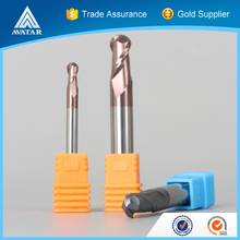2 or 4 or 6 flutes solid carbide ball nose end mill with ISO certificated or certification