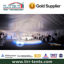 Motor Expo tents displaying international famous cars