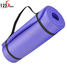 Low MOQ Wholesale Fitness Goods 15mm Thickness NBR Yoga Mat For kids with carrying strap