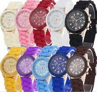Escrow Geneva Bell And Rose Quartz Watches