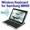 Aluminium Alloy Wireless Bluetooth 3.0 Bluetooth Keyboard for Samsung Galaxy Note 10.1 N8000 with holer