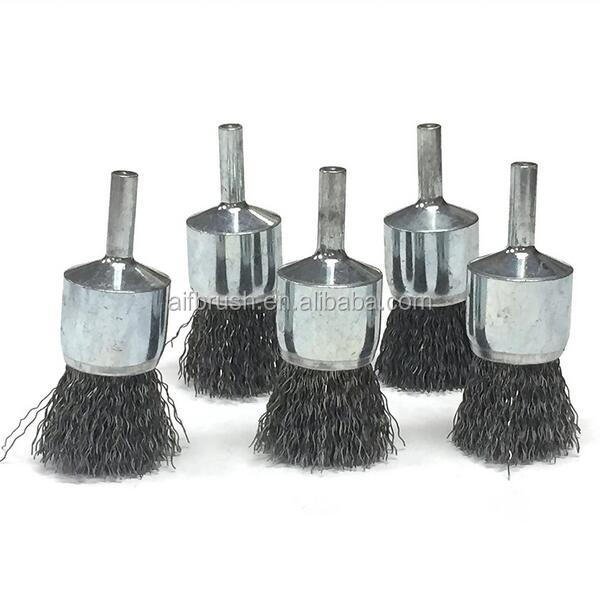China Factory free samples 25mm Knot Wire End Brush For Cleaning Pipe