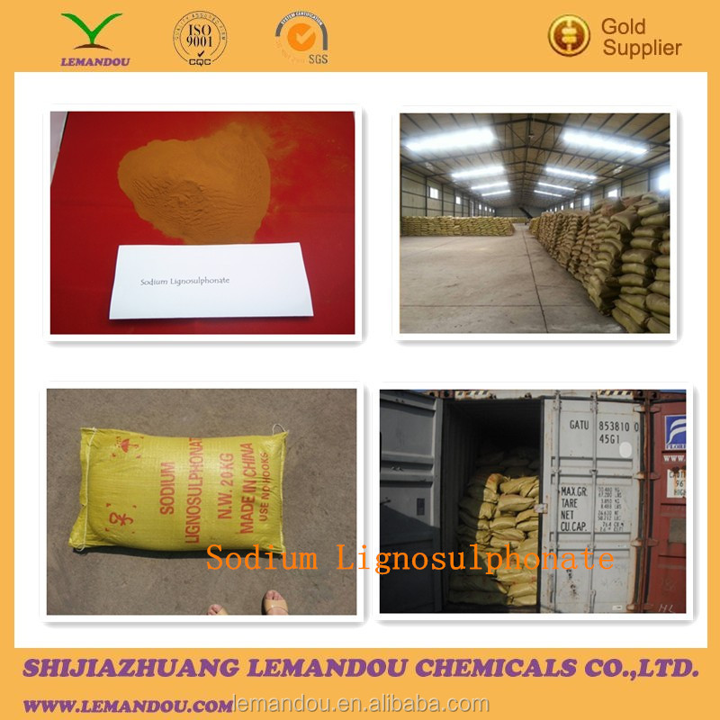 PH 5-7 yellow color for water reducer SLS sodium lignosulfonate supplier