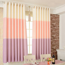 The bedroom balcony blackout printed short window curtain