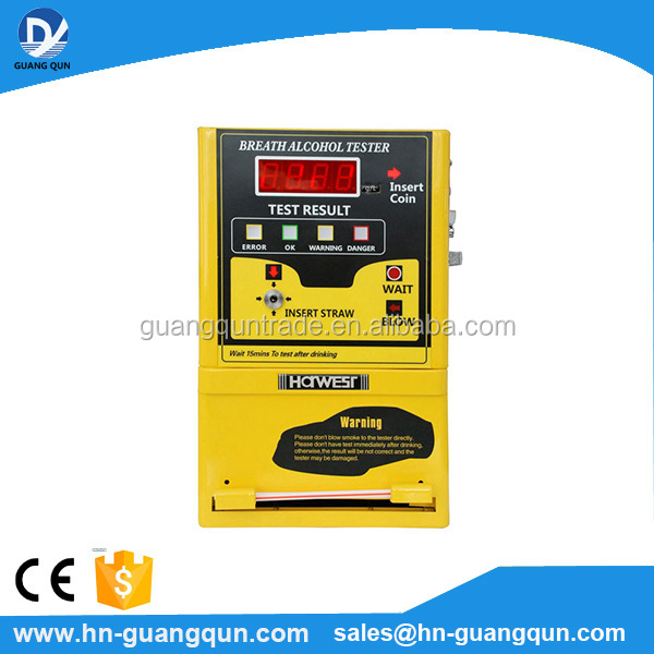 High quality AT309 Alcohol Breath Tester Machines Alcohol Tester Vending Machine with Coin