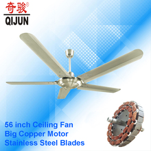 56 inch industrial ceiling fan with 5 blades made of stainless steel for Bengal market
