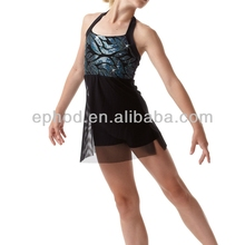 Fancy jazz dance wear/stage dancing dress/latin and ballroom dresses EPJ-011
