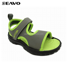 SEAVO SS17 wholesale latest style EVA sole school boys outdoor green color beach sandals