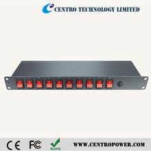 1U Rack Mount Distribution Power Unit-10 Outlet 15A PDU With Switch